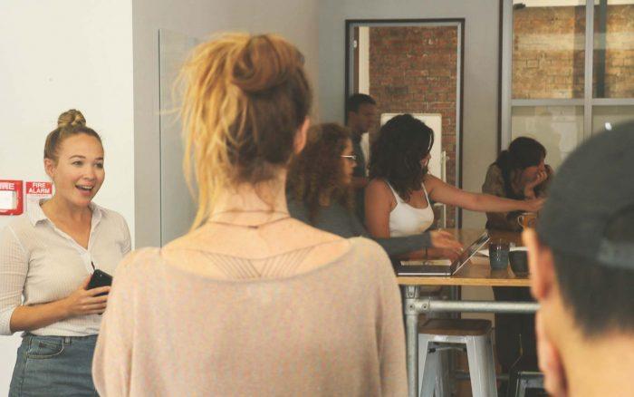 Optimal Workshop team members working together